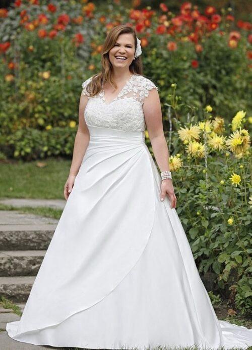 Find et stort udvalg i plus size brudekjoler hos Unique Kjoler i midtjylland.