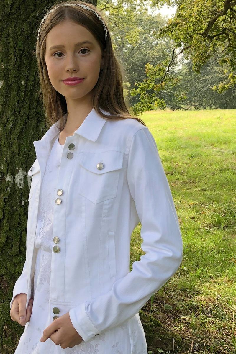 konfirmationskjoler 2020 realsilk denim jakke white edited