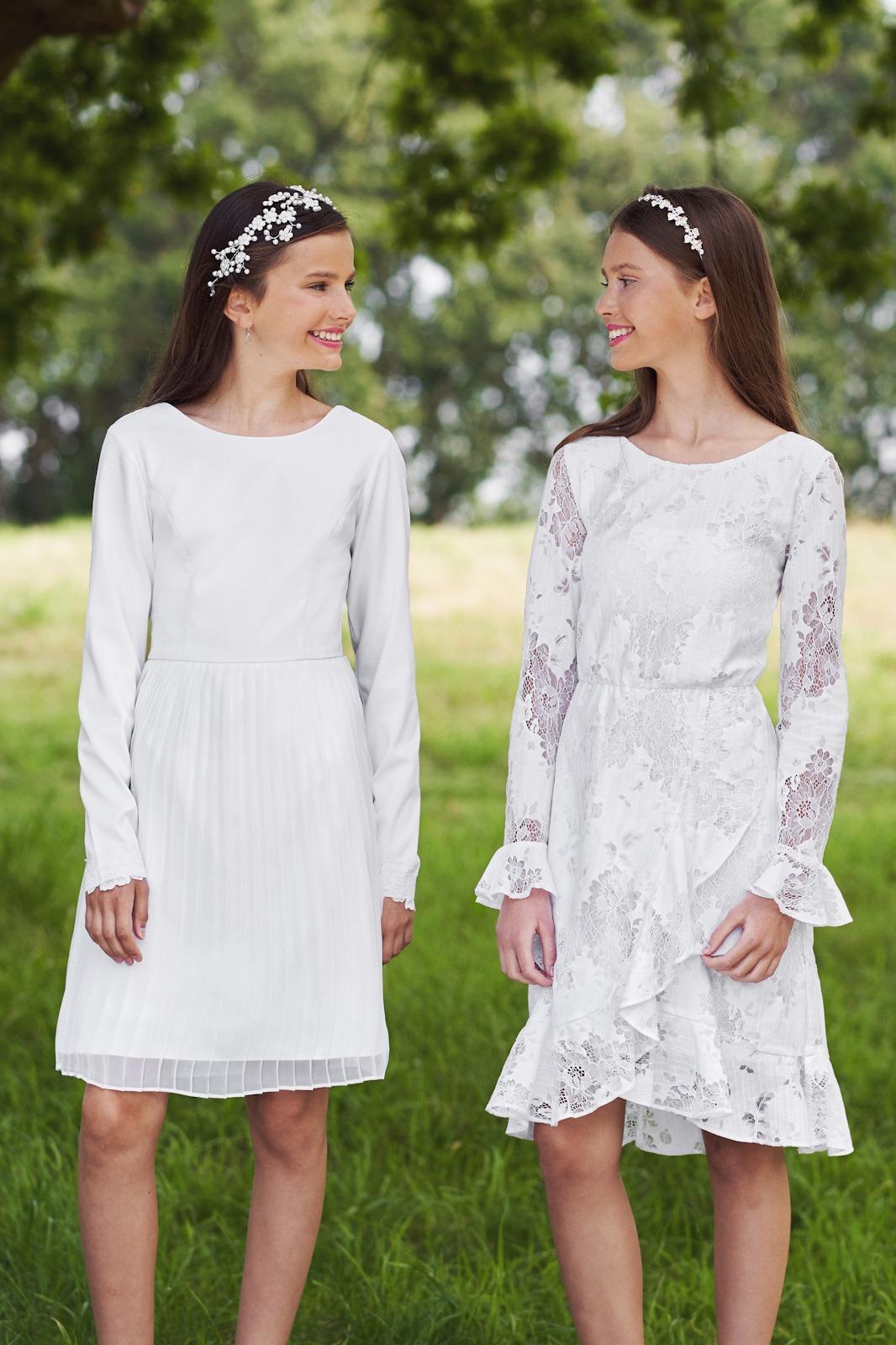 Konfirmationskjoler med blonder - Se Real Silk Nala og Ninka hos Unique Kjoler.