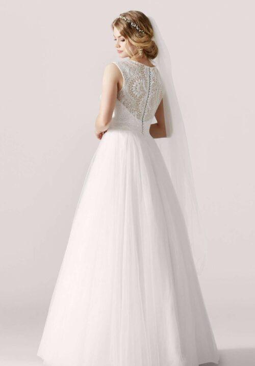 Smuk prinsesse brudekjole. Se model Lilly 3928 hos Unique Kjoler.