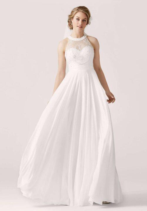 Find den perfekte brudekjole til dit bryllup hos Unique Kjoler. Se fx. denne smukke Lilly 3952.