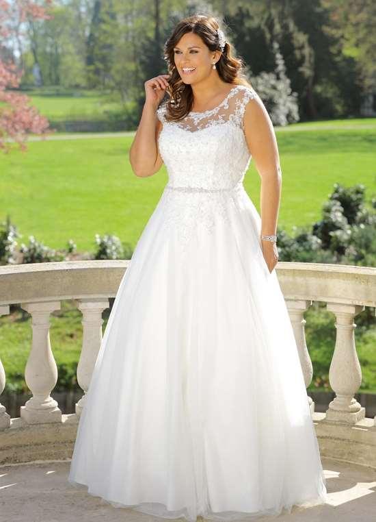 Plus size brude kjoler finder du hos Unique Kjoler. Se denne LS 719035 her.